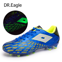 Soccer shoes for boys boots spike for football shoe shoes men sport sneakers Luminous florescent light traning soccer cleats
