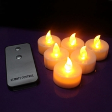 12 PCS Candles LED Tea Light Flameless Flickering Party With Remote Control HG4944X12-HG4945X12