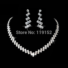 Buy Wedding Jewelry Crystal Bridal Gifts Choker Necklace Earrings Set Wedding Jewelry Sets Brides Hot Selling Wedding Jewelry Sets for $2.04 in AliExpress store