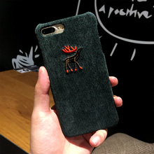 Newest Corduroy Fabric Shell Mobile Phone Cases for IPhone 6 6S 6plus 6Splus 7 7plus Cute Animal Penguin Protective Hard Cover