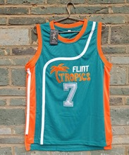 Cheap LIANZEXIN New Flint Tropics Movie #7 COFFEE Black Jersey 2016 Mens Basketball Jersey Green Wholesale Price