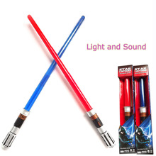 Flashing Sword Toys With Sound and Led Light Red/Blue Stable Color Light Up Sword Star Lightsaber Children Toys