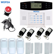 Wofea Smart Russian Spanish English French Polish LCD gsm alarm system Wireless and wired Home alarm system Burglar alarm system