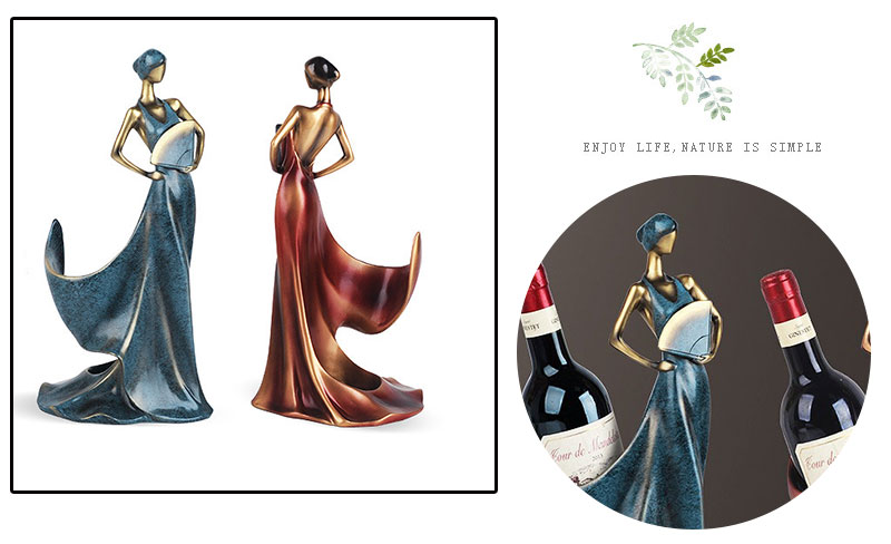 Resin Egyptian Bottle Holder Egyptian Goddess Wine Rack