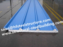 Chinese manufacturer Cold Room Corrugated EPS Sandwich Metal Roofing Sheets Wall Panels(China)