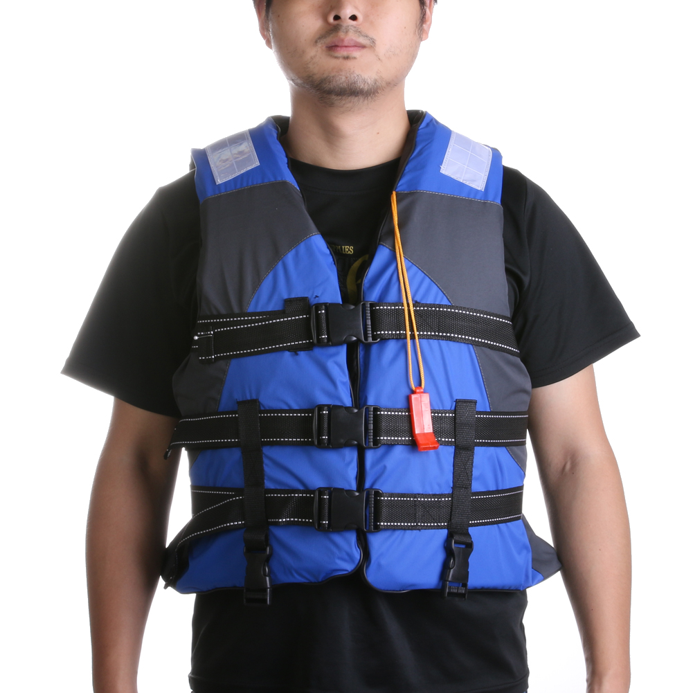 Adult Polyester Swimming Life Jacket Professional Life Vest For Drifting Boating Survival Fishing Safety Jacket with Whistle(China (Mainland))