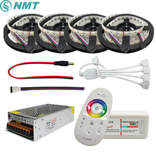 5-20m RGBW RGBWW Led Strip Light 5050 DC 12V 4 in 1 Chip IP20/IP65 Waterproof + 2.4G RF Remote Controller + Led Power Supply Kit(China)