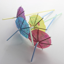 50pcs/lot Creative Funny Umbrella Paper Drinking Straws For Kids Birthday Party Bar Cocktail Decoration XMAS Plastic Straws