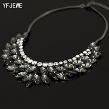 2018 New Brand Luxury Crystal Necklaces & Pendants Eyes Resin Choker Statement Necklace Valentine's Day Women Jewelry #N007(China)