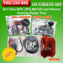 2017 Volcano Box For MTK Cpu,SPD CPU,Mstar Cpu,Coolsand Unlock Flash & Repair With 29 pcs adapter 2 cables 1 year Warranty+PACK1(China)