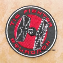 8.3cm STAR WARS TIE FIGHIER logo iron on patches biker vest patch Fashion movie TV applique embroidered badge wholesale(China)