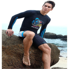 sabolay sports men diving suits surfing swimming speed dry clothing supply source of anti jellyfish swimsuit sunscreen