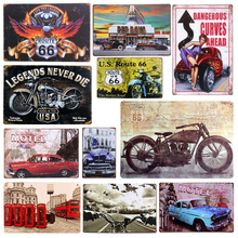 Plaque Car Theme Vintage Metal Tin Signs Motorcycle Wall Poster Decals Plate Painting Bar Club Pub Home Decor Wall 20*30cm A134(China)
