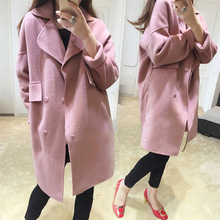 Fashion Long Medieval Trench Wool Coat Women Winter Turn Down Collar Gothic Coat Elegant Women Coat Vintage Female Plus Size 5XL