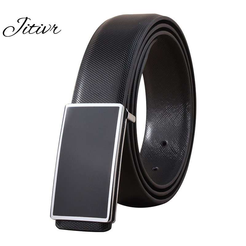 New 2017 Brief Black&White Male Belt Automatic Buckle Leisure Belt For Man Vintage Leather Man's Belt(China (Mainland))