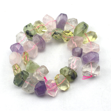 14-19mm oval faceted natural stone beads: citrines amethysts rose quart prehnites DIY loose beads for jewelry making wholesale !