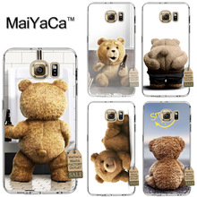 MaiYaCa Lovely brown teddy bear cartoon Soft Transparent TPU Phone Case Accessories Cover For Samsung Galaxy s6 edge Case(China)