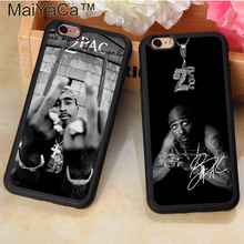 MaiYaCa Fashion 2Pac Tupac Shakur Printed Soft TPU Mobile Phone Cases OEM For iPhone 6 6S Plus 7 7 Plus 5 5S 5C SE Back Cover(China)