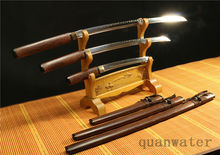 1095 HIGH CARBON STEEL CLAY TEMPERED JAPANESE SWORDS SET(KATANA,WALIZASHI,TANTO)