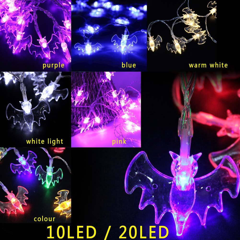 Halloween Fairy String Light LED Bat Strip Lamp Home Decoration Lighting for Holiday Party Halloween Festival 10 LED/20LED