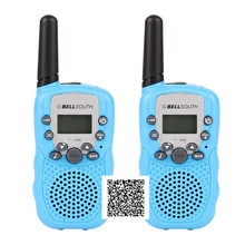 T-388 2pcs Dual Black Adjustable Portable Mini Wireless LCD 5KM UHF Car Auto VOX Multi Channels 2-Way Radio Travel Walkie Talkie(China)