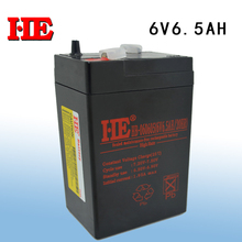 HE 6v 6.5ah 20HR rechargeable battery storage agm lead acid battery 6v for power bank toy car solar light system 70*47*116MM