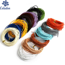 New Product Diameter 1.5mm Round Shaped 14 Color Can Choose Real Leather Rope String Cord for DIY necklace making crafts