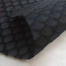Free Shipping New Fashion Frehcn High Quality Knitted Fabric Autumn Spring Honeycomb Spun-Bonded Black Fabric Sewing Cloth tissu