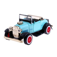 1:36 Retro Antique Classic Car Model Kids Alloy Light Music Pullback Car Simulation Model Car Toys for Baby Toy Gift