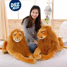 Simulation lion plush toys lovely birthday gift large lion plush dolls creative dolls giant lion giant stuffed animals(China)