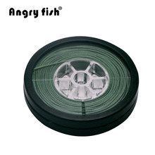 Angryfish Lead Core Carp Fishing Line 25Lbs 35Lbs 45Lbs 60Lbs 10Meters for Carp Rig Making Sinking Braided Line(China)