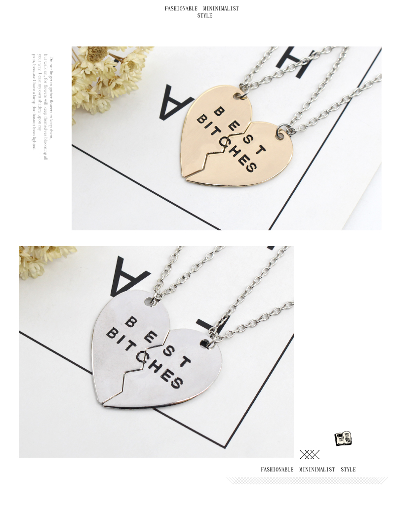 BFF Necklaces (several styles) golden silver bitches hearts