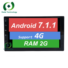 Double din Quad core android 7.1 2din universal Car Radio GPS Navigation In dash Car PC Stereo video audio 1080P RDS 3G/4G WIFI