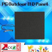 TEEHO New arrival P6 outdoor led display panel 192*192mm 1/8 scan Hub75 3IN1 RGB led display modules p6 outdoor