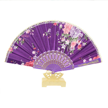 2017 Chinese Style Wedding Return Souvenir Gift Japanese Hand Fan  Lovely Plastic Fashion Printing GYS905