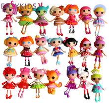 Kids doll toys button eyes mini Lalaloopsy dolls child birthday gift toys play house action collection figure kids toy for girls(China)