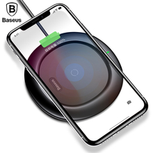 Baseus QI Wireless Charging Charger For iPhone X 8 Samsung Note 8 S8 S7 S6 Edge Mobile Phone Desktop Charger Wireless Charger(China)