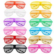 24 Pairs of Fashion Plastic Shutter Shades Glasses Sunglasses Eyewear Halloween Club Party Cosplay Props (Random Color)