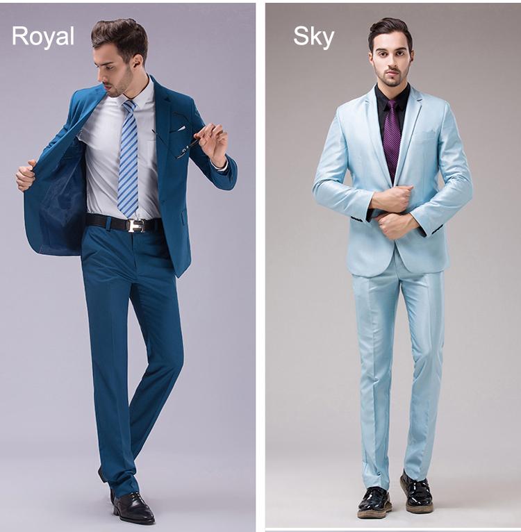 HTB1pqQZRXXXXXcpXXXXq6xXFXXXn - OSCN7 12 Color 2pcs Slim Fit Suits Men Notch Lapel Business Wedding Groom Leisure Tuxedo 2017 Latest Coat Pant Designs S-4XL