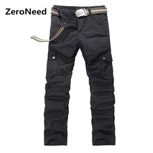 Hip Hop Pants Mens Sporting Pant Elastic Work Wear Baggy Cargo Pants Men Multi Pocket Outdoors Casual Fashion Pant 105