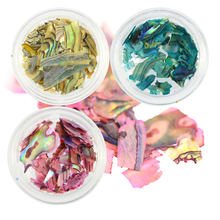 1bottle Green/Pink/Yellow Abalone Shell Foils Nail Glitter Powder Decorations Sparkly DIY Nail Paillettes Tips CHBY01-03(China)
