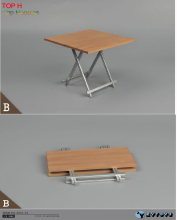 1/6 Scale Folding Chair desk table Deep color B Fit Ultimate Soldier 12'' Toys Accessory