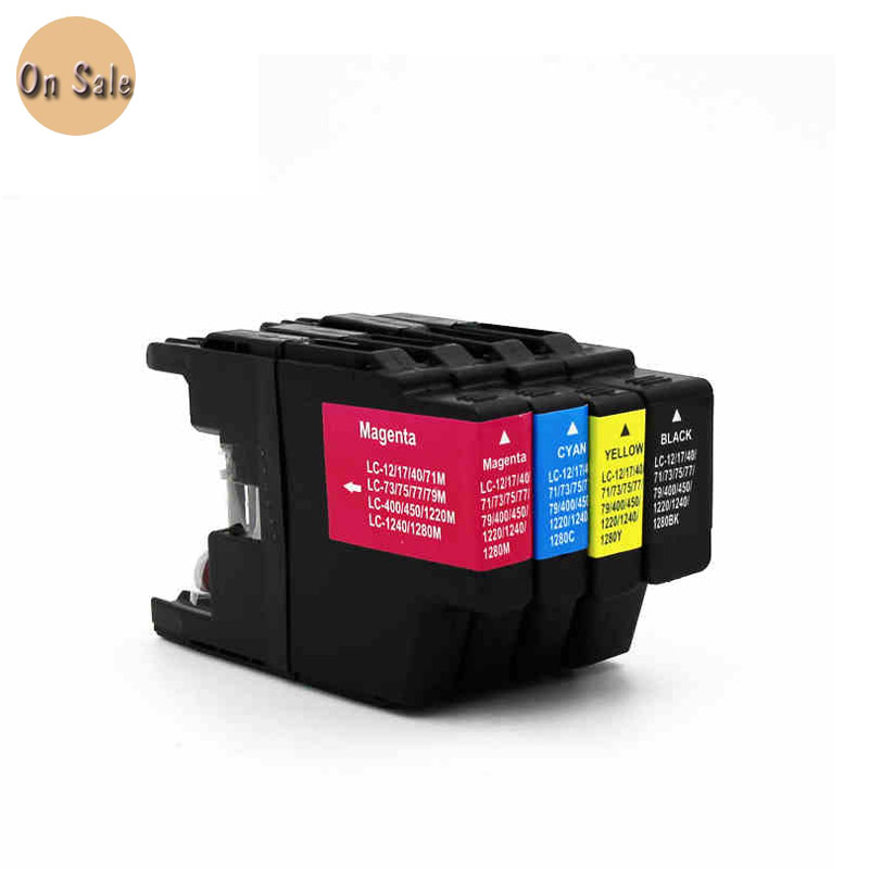 For Brother LC400 LC450 LC1240 LC1280 Ink Cartridge MFC-J6540DW J6710AW J6910DW J425W J280W J430W  J435W J625DW  <br><br>Aliexpress