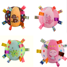 baby Taggies toys bell cloth ball Early Education teddy Developmental Soft Stuffed Plush Toys bed Rattles 15CM