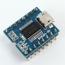 MP3 Player Module Mini MP3 Player Audio Voice Module Board BY8301-16P 32M Support USB Download