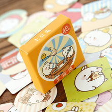 46 pcs/pack Cute Molang Rabbit Label Stickers Decorative Stationery Stickers Scrapbooking DIY Stickers TA208(China)
