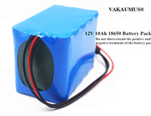 12V Battery Pack 12.6V 10Ah 18650 Rechargeable Batteries For LED/Light/Power Tools/Digital Electronics/Portable Charger/Lamp