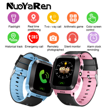 Kinderen smart watch 1.44 kleur screen touch fotografie positionering Kids Waterdicht Baby Met SIM SOS Call kind horloge(China)
