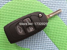 1pcs of New Replacement Key Cover Flip Key Shell fit for VOLVO S40 V40 S60 S80 XC70 3 Button Remote Case Fob Folding Refit