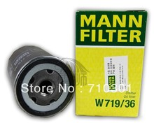 Hot sales, free shipping fee MANN oil filter W719/36 for Jaguar XJ6 3.0L S-Type